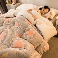 雕花绒被子冬被棉被加厚保暖10斤被芯秋冬天宿舍单人学生双人被褥