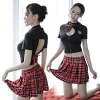 情趣内衣清纯学生制服套装情激情水手性感丝袜女警短裙角色扮演