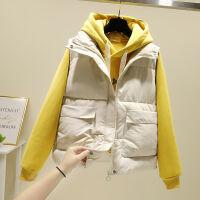 胖mm棉短款小马甲女秋冬季韩版棉衣学生背心马夹外套