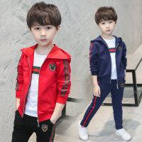 童装男童秋装套装2018新款儿童秋中大童运动男孩韩版三件套潮衣