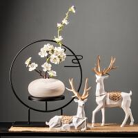 家居里书房桌上装饰品复古博物古架客厅创意小摆件