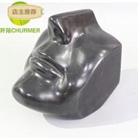 鼻子嘴巴抽象人物黑白大理石桌面小摆件样板房间软装饰工艺品现代SN5298 FQST-431 150*190*190