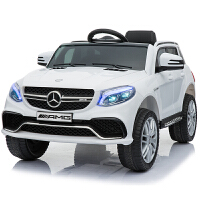 儿童遥控汽车可坐人奔驰儿童电动车四轮摇摆带遥控汽车可坐小孩童车宝宝遥控车可坐人宝宝玩具汽车 授权奔驰GLE63s【白色
