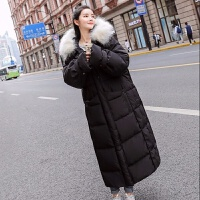 羽绒服女中长款韩版学生修身显瘦大码加长过膝保暖外套