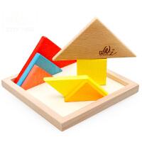 大号七巧板积木 木质拼图拼板儿童益智玩具AF25722