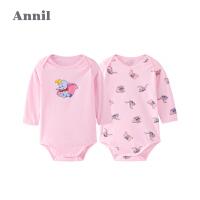 【2件4折预估到手价:79.6】安奈儿童装男女宝宝连体衣两件装春秋2020新款迪士尼小飞象联名款