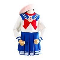 美少女战士cosplay表演女童毛衣裙水手套装演出秋万圣节儿童服装
