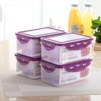放冰箱里的收纳盒家用透明储蓄保鲜盒厨房器保险塑料箱水果盒子
