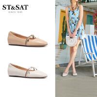 St&Sat/星期六春新款低跟方头单鞋SS01111055