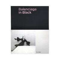 现货包邮 英文原版 Balenciaga in Black 巴黎世家 黑色作品集 时尚服装 服装服饰设计