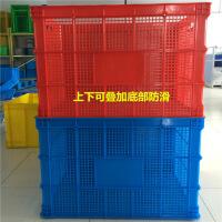 加厚特大号塑料周转筐长方形塑箩框子塑料箱服装快递筐水产箱胶筐