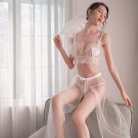 情趣内衣性感蕾丝睡裙透明制服贝壳文胸长裙激情套装 均码