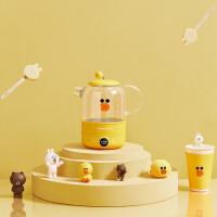 九阳(Joyoung)LINE联名莎莉鸡家用多功能养生壶全自动加厚玻璃办公室小型煮茶器 K08-D601(黄)