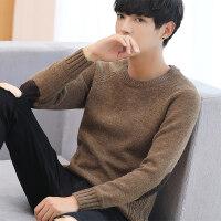 毛衣男韩版 潮流 个性打底衫秋季圆领针织衫修身衣服男士毛线衣