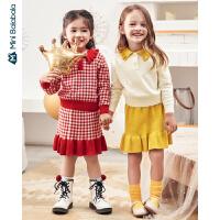 【618年中庆 2件4折价:108】迷你巴拉巴拉女童套装裙2020春韩版两件套洋气宝宝外穿半身裙