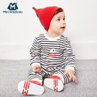 迷你巴拉巴拉婴儿帽子2019冬新品尖尖帽舒适趣味可爱毛织帽胎帽