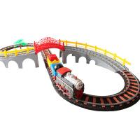 小火车模型带轨道儿童小孩3-6周岁火车积木玩具拼装轨道车
