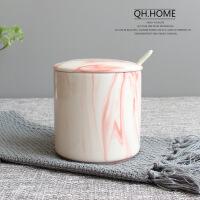 ins陶瓷调味罐北欧大理石纹调味盒瓶调料罐盐罐套装厨房用品用具