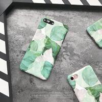 iphone6s手机壳半包清新文艺潮少女绿叶6sp超薄磨砂硬壳苹果7plus