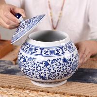 景德镇茶叶罐红茶密封罐大号一斤装存茶罐储物罐泡菜杂粮陶瓷罐子