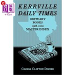 【中商海外直订】Kerrville Daily Times Obituary Books, 1986-2000, Ma