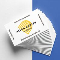 铜版纸名片印刷双面印名片制作二维码名片设计卡片券