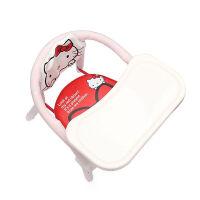 儿童凳子 防滑儿童椅宝宝椅子靠背椅叫叫椅小椅子板凳吃饭凳子卡通婴儿餐椅 升级版双杠红色KT猫+靠背+宽餐盘 现货