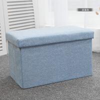 长方形收纳凳子储物凳布艺可坐人换鞋沙发凳可折叠小凳子 45L(50长x30宽x30高cm)