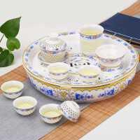 茶具套装家用整套简约现代中式青花景德镇陶瓷功夫泡茶壶茶杯茶盘