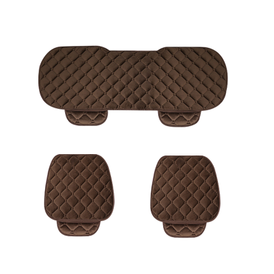 汽车坐垫冬季新款座垫三件套毛绒无靠背车坐垫四季通用座椅垫后排
