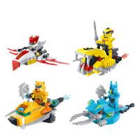 赛尔号兼容玩具拼装机器人战神联盟雷伊塔防机甲飞船