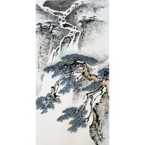 著名画家 张登堂《泰岱飞泉》
