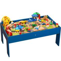 儿童托马斯小火车轨道套装游戏桌兼容托马斯木质轨道拼装玩具定制