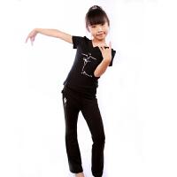 儿童拉丁舞服装套装练功表演服装形体舞蹈服女童春夏新款