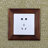 实木开关贴保护套 墙贴插座电灯开关装饰贴现代简约客厅