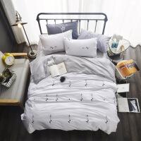 纯棉四件套床品1.8m床上用品宿舍被套床单三件套1.5米双人