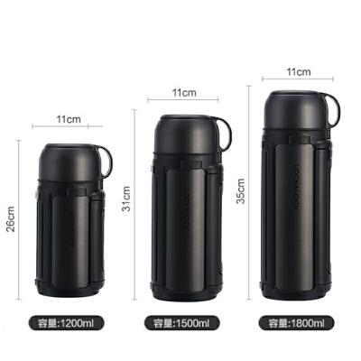 乐扣乐扣保温杯男女士不锈钢户外便携大容量礼品水杯带肩带水壶1L/1.2L/1.5L/1.8L