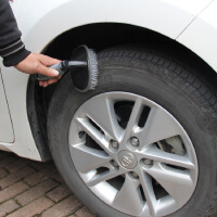 洗车刷子清洁轮胎刷轮毂刷子 汽车钢圈清洗刷子洗车清洁工具