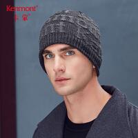 卡蒙骑行套头帽子男冬天加绒毛线帽年轻人保暖加厚双层护耳针织帽9277