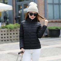 棉衣女大码修身显瘦棉袄加厚秋冬装百搭短款立领外套