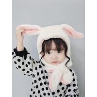 儿童帽子男宝宝护耳帽男童女童帽秋冬季婴幼儿围巾围脖一体婴儿帽