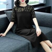 黑色真丝连衣裙2019新款重磅桑蚕丝女中长款气质夏季裙子 黑色