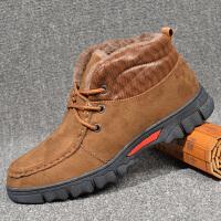 老北京棉鞋男冬季高帮加绒保暖爸爸布鞋男士休闲防滑懒人鞋大棉鞋