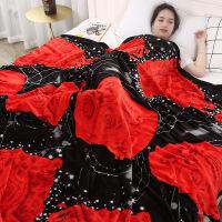 珊瑚毯子冬季用加厚保暖床单人宿舍学生午睡小被子单件法兰绒毛毯