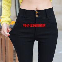 2019春季大码打底裤女外穿薄款200斤胖MM裤子显瘦高腰小脚裤