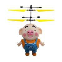 手掌感应飞机 海草猪感应飞行器耐摔充电遥控飞机悬浮直升机手掌感应小飞机 (标配)无遥控 配USB线)