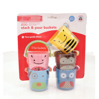 宝宝洗澡玩具卡通动物婴幼儿戏水玩具儿童洗澡叠叠乐小水桶花洒