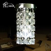 祺家 现代简约小型水晶吸顶灯客厅卧室书房灯具SX15