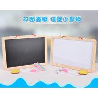 粉笔字小黑板挂式家用教学创意画板实木儿童磁性写字板可擦白板