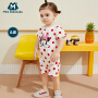 【129元任选3件】迷你巴拉巴拉婴儿外出连体衣2020夏新款女宝宝全棉米奇IP满印爬服